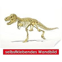 Selbstklebendes–cuadro de T-Rex–Fáciles de pegar–Wall Print, Wall Paper, Póster, pantalla con pegamento de puntos de vinilo para paredes, puertas, muebles y superficies lisas de Trend paredes, 90 x 60 cm