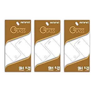 AMFIN 0.26mm Anti Explosion 9H Hardness Anti-Scratch Premium Tempered Glass For HTC Desire 825 Tempered Glass - Pack of 3