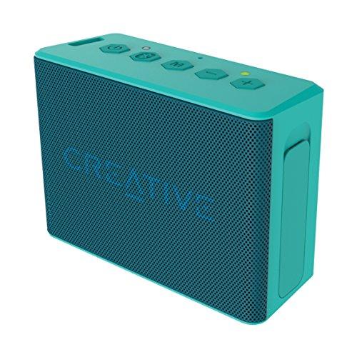 Creative MUVO 2c - Leistungsstarker, kompakter, wetterfester Wireless Bluetooth Lautsprecher (für Apple iOS/Android Smartphone, Tablet/MP3) - Wireless Bluetooth Lautsprecher Wasser