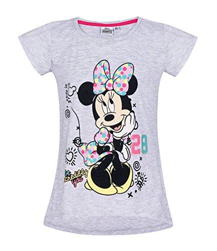 Disney Minnie Girls Short Sleeve T-Shirt - Grey