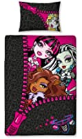 Character World 135 x 200 cm Monster High Skullette Single Panel Duvet Set, Multi-Colour