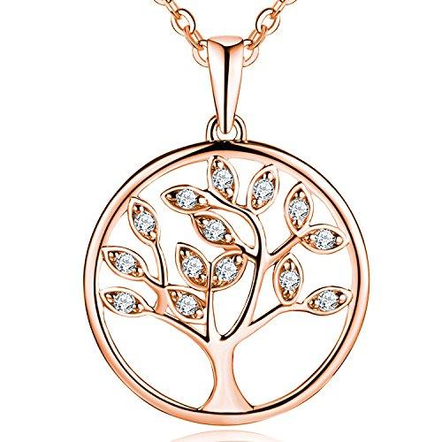 5b641ca1f4fd53 Caratteristiche ed informazioni su jo wisdom collana albero della vita  argento 925 aaa zirconia cubica ...