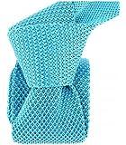 Clj Charles Le Jeune - Cravate Tricot. Bleu D'annecy