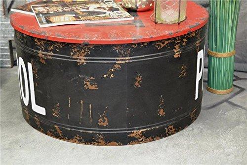 Livitat® Couchtisch Beistelltisch Metall Ölfass Vintage Industrie Look LOFT Shabby LV5021 - 7