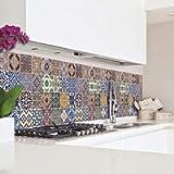 CREARREDA Pannello paraschizzi Cucina Adesivo da Parete Azulejos 180_x_45_cm 100% Made in Italy con Inchiostro atossico…