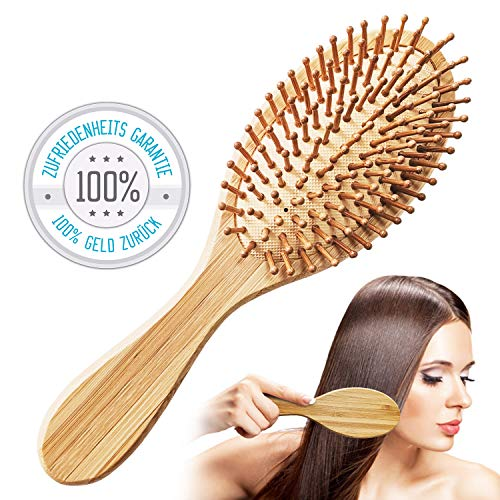 Bambus Haarbürste │ Bamboo Hairbrush │ Haarbürste aus Holz │ natürlich, vegan & umweltfreundlich │ Detangler Brush von Tillmann´s Deutschland -