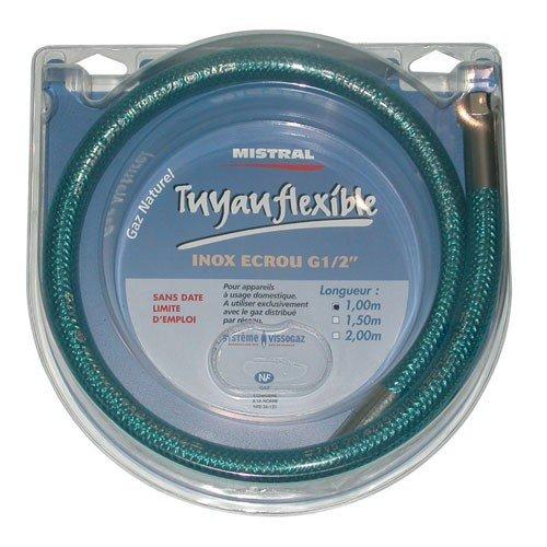 Tuyau gaz naturel - flexible - inox - 2 m