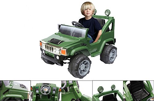 macchina-elettrica-4x4-hummer-verde-per-bambino