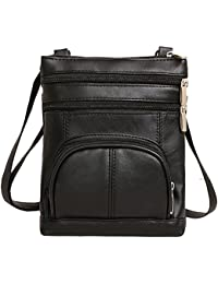 Ilishop PU Leather Multi-Pocket Crossbody Purse Bag