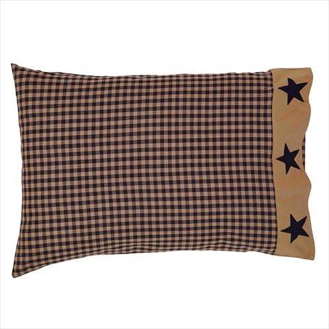 Teton Star Primitive Country cuscino-Toppa Patchwork a forma di stella, confezione da 2 cm, misura 53,34 (21 76,20 cm x (30 di ciascuna Ashton & Willow, VHC Brands