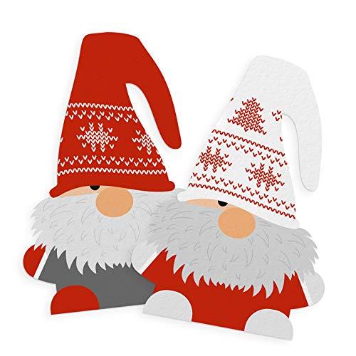 itenga Sticker 10 x Wichtelbande Aufkleber Etikett zum Basteln Weihnachtsgeschenk Wichtelgeschenk Advent Deko