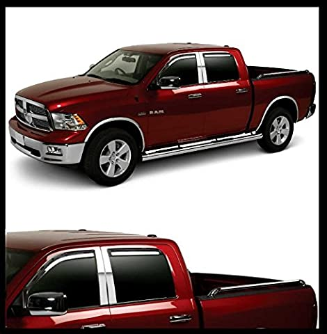 Lot de 4 chrome Page scheib enwin dabweiser Dodge Ram 1500 Quad Cab Bj : 09–17/2500, 3500 Quad Cab Bj : 10–17