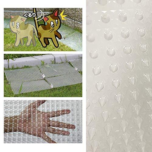 Ecisi Katzenabweisende Outdoor-Scatmatte, Katzen-Scat-Spike-Matte, sanfte Haustierabwehr für Katzen, Hunde und mehr, ungiftige Trainings-Spike-Strip-Geräte für Innen- und Außenbereiche, 5er-Pack