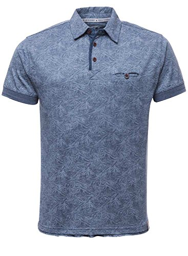 M.O.D Herren Poloshirt Blau (indigo melange allover)