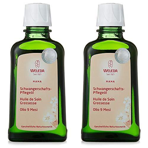2x Weleda - Olio 9 Mesi 100 ml | Linea Mamma | Smagliature, gravidanza | Pacchetto da 2 confezioni da 100 ml l'una