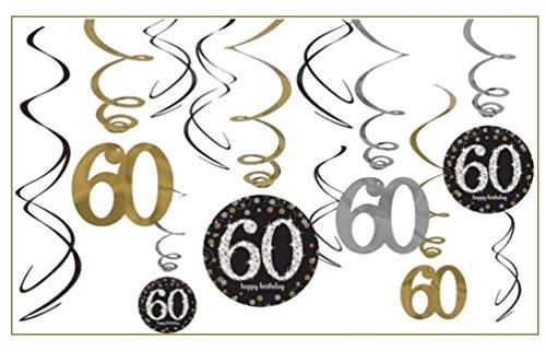 NEU Girlanden-Set Happy Bday Sparkling 60, 12 -