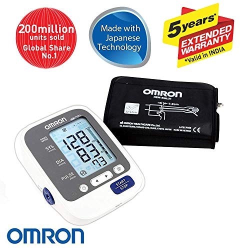 Omron Health Care Combo Pack of Blood Pressure Monitor with Large Cuff with Digital Thermometer MC-246