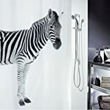 Cortina para ducha impermeable diseño Cebra 180 x 180 cm