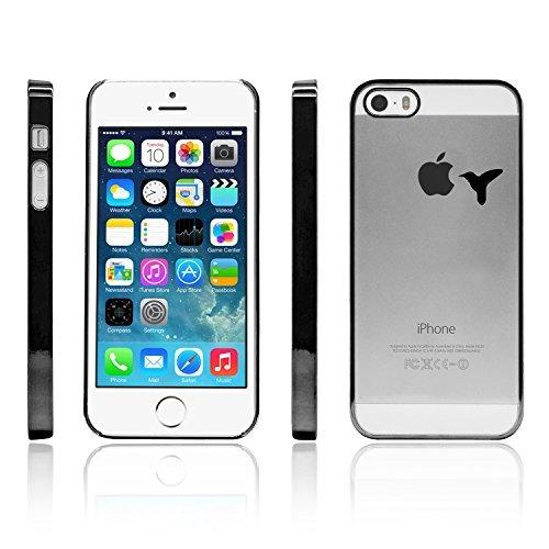 iProtect Schutzhülle Apple iPhone 6, 6s (4,7'') Hülle Totenkopf Skull Star Design in schwarz Schwarz Kolibri