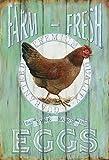 Farm Fresh Eggs free range eier schild aus blech, metal sign, tin