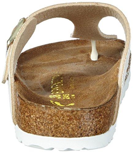 Birkenstock Gizeh Birko-Flor, Tongs femme Beige - Beige (Shiny Snake Cream)