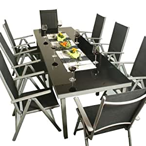 xxl salon de jardin ensemble 11 pieces mobilier alu jardin. Black Bedroom Furniture Sets. Home Design Ideas