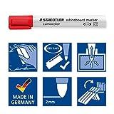 STAEDTLER 351WP6 Lumocolour Whiteboard Marker with Bullet Tip, Multicolor , Pack of 6 Bild 5