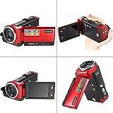Andoer HDV-107 Digital Video Camcorder Kamera HD 720P Flash 16MP DVR 2.7 ' TFT LCD Screen 16x ZOOM Rot