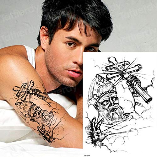 3pcsSketch Tattoo Design Frau Tattoo Halloween Zombie Narbe Tattoo (Crafts Christian Einfach Halloween)