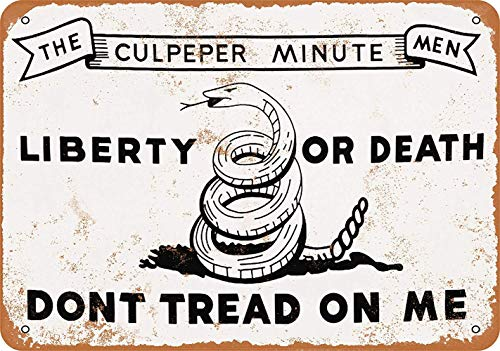 WallAdorn Don't Tread on Me Culpeper Minute Men Iron Poster Painting Tin Sign Vintage Wall Decor for Cafe Bar Pub Home