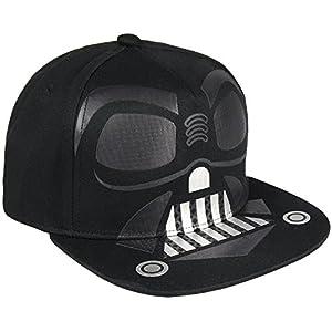 Cerdá Plana Star Wars Darth Vader Tennismütze für Kinder, Schwarz, 52-58 cm