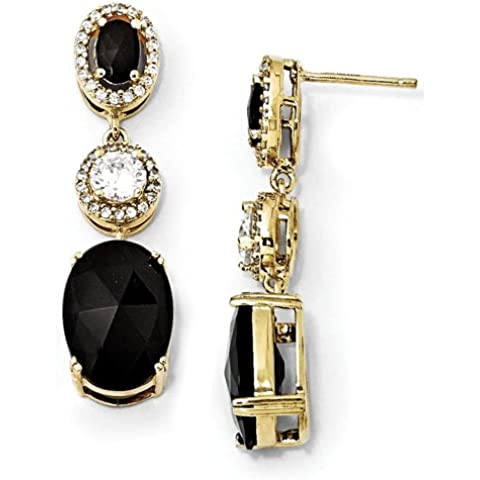 Oro blanco de 14 k ajustable Pulido abultada Corazón & Tobillera clave por UKGems-14k White Gold Adjustable Polished Puffed Heart & Key Anklet by UKGems