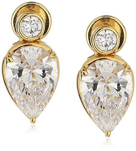 nicole-miller-sweet-pear-gold-drop-earrings