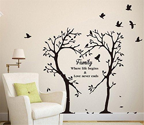 Snatchcz wall sticker family tree pvc decalcomanie camera wall art decorazione fai da te home decor (60cm * 70cm, w * l)