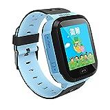 Smart Watch Bambini 1.44 inch Touch Screen Localizzatore Bambini con la SIM Calls SOS Anti-Perso Orologio Telefono Braccialetto Torcia Sveglia per iOS Andriod I Migliori Regali per i Bambini T08(Blu)