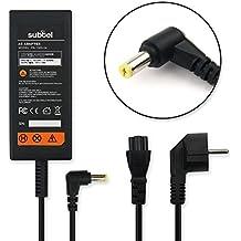 subtel® Fuente de alimentación (19V,30W) para Acer Aspire One (2.2m) cable de corriente Cargador ordenador portatil