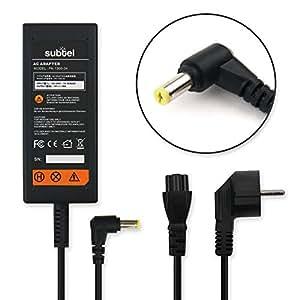 subtel® Chargeur (30W, 1.58A, 19V) pour Acer Aspire One 522 / 722 / D255 / D257 / D260 / D270 / E100 / Happy / Chromebook AC700 / LC.ADT00.006 / LC.ADT02.001