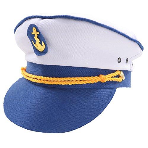 Sailor Naval Officer Captains Hat Mens Fancy Dress (Sailor Fancy Dress Kostüm)