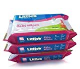 #6: Little's Soft Cleansing Baby Wipes (Pack of 3, 80 Wipes)