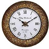 RoyalsCart Decorative Wooden Analog Wall Clock, Multi