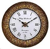 #10: RoyalsCart Decorative Wooden Analog Wall Clock, Multi