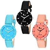 #8: Naksh Fashion Stylish Watch With Fancy Dial And Belt -FOR-women and girl ( Combo peck of 3)