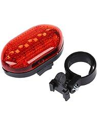 SODIAL(R) Lampe de velo etanche Lumiere arriere du velo Feux arriere LED eletrique pour velo Rouge