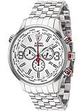 DETOMASO AURINO Chronograph Silver/White DT1061-D