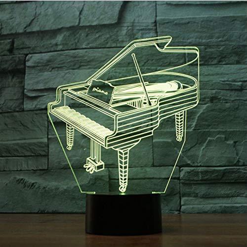 3D Lampe Klavier Kunsthandwerk Wohnzimmer Lichter Kreative Touch Desktop Kreative Kleine Nachtlicht Vision Stereo Lampe, Touch