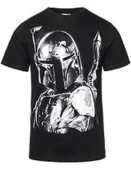 Camiseta de manga corta Boba Fett de la saga Star Wars (Negro)