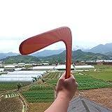 TOPKing Boomerangs Kinder Holz Boomerangs Sport im Freien Spielzeug für Mehr als 5 Jahre alt (Orange)