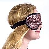 Augenkompresse, Medical Eye Maske, Hot & Cold Therapy für geschwollene Augen, Verspannungen, Sinus und Migräne Relief, verstellbarer Gurt für Damen und Herren, Plüsch Unterstützung, wiederverwendbar, Gefrierschrank und Mikrowelle Safe (Rose Gold glänzt)