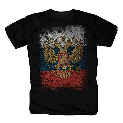 Rusia Camiseta, negro medium