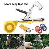 Yefun Bindezange Tapetool Bindemaschine mit Tapes, Bindemaschine Handbindemaschine Bindezange Landwirtschaft Pflanze Tape Tool für Garten Balkon